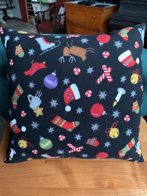 Christmas Icon Square Pillow Christmas Decorative Pillow Etsy