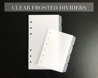 CLEAR FROSTED DIVIDERS   in various sizes