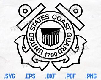 US Coast Guard CNC Ready File BMP EPS SVG
