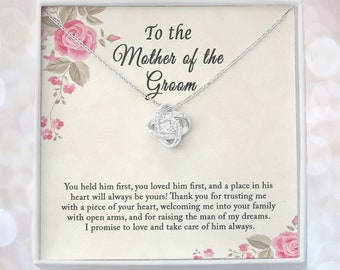 Mother In Law Wedding Gift From Bride, Mother of the Groom Necklace, Future Mother in Law Gift, Gift For Mother-In-Law, Wedding Gift