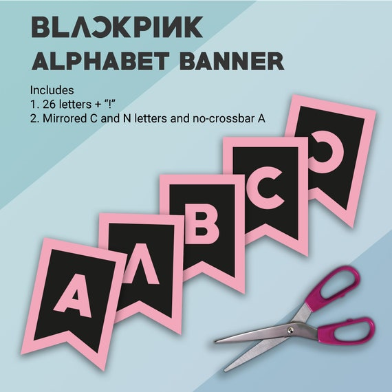 Blackpink Inspired Party Printables Alphabet Banner Birthday Etsy