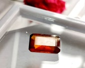 TOP QUALITY HESSONITE Garnet Gemstone 5.40Ct Natural Hessonite Garnet Faceted Perfect Ring Size Loose Gemstone Hessonite Garnet Size 12x8x4
