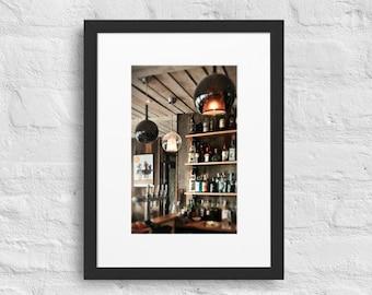 Framed Print of the Beach Hut Bar, Wall Art Decor, Matte Paper Poster With Mat Surround