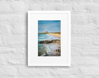 Framed Print of Fistral Bay, Newquay, Cornwall, Wall Art Decor, Matte Paper Framed With Mat Surround