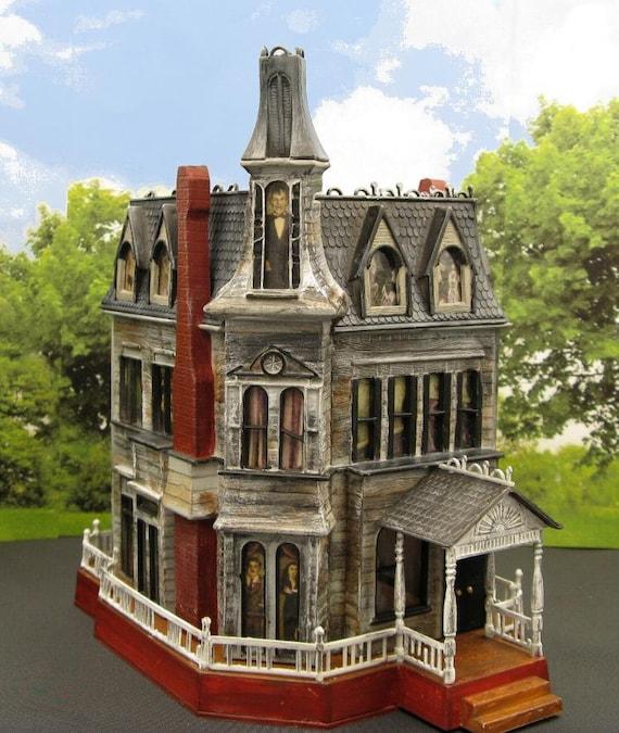 Addams Family House Modelho Scale 1 87haunted Etsy