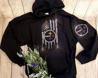 save off fc674 59edc Steelers hoodie | Etsy