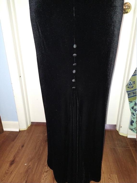 Women's maxi velvet skirt