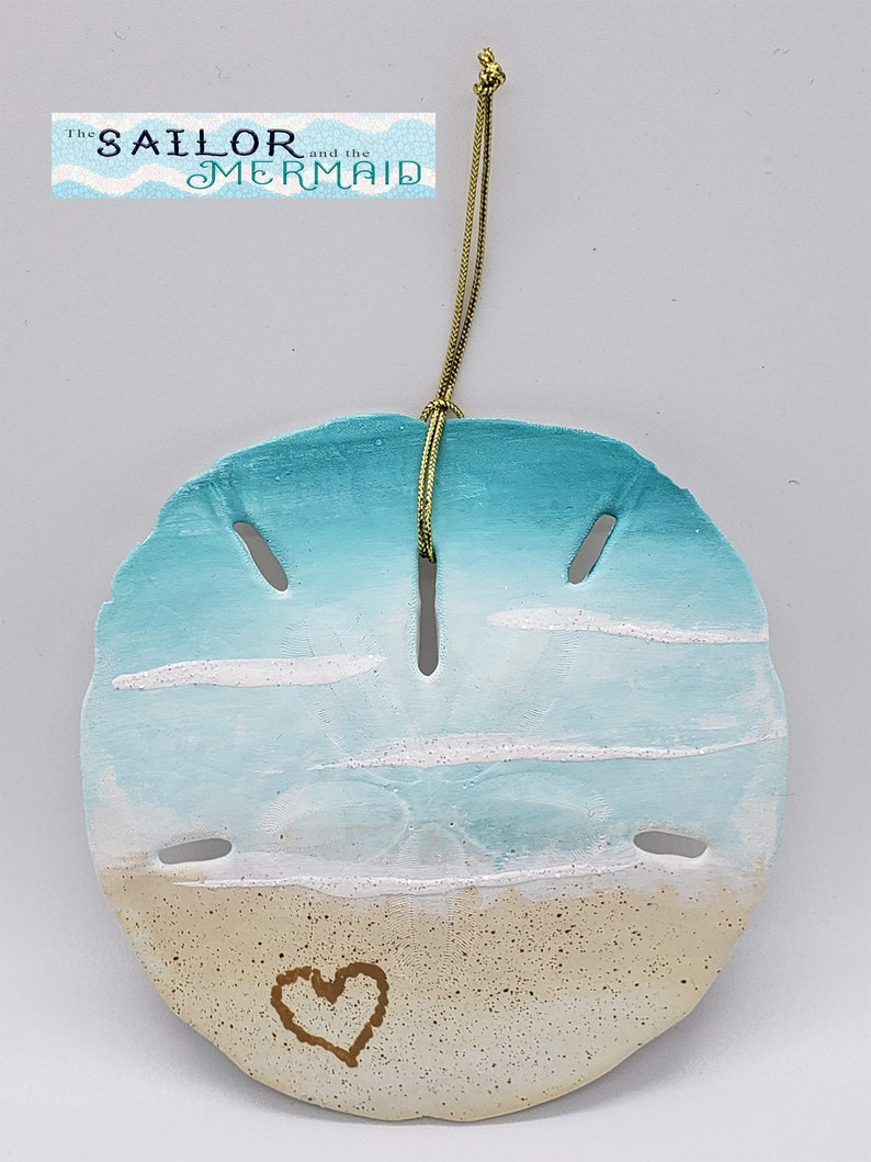 Hearts for Heroes Nurses Real Florida Sand Dollar Hearts for Healthcare Hand Painted Sand Dollar Gift of Thanks with a Heart in the Sand