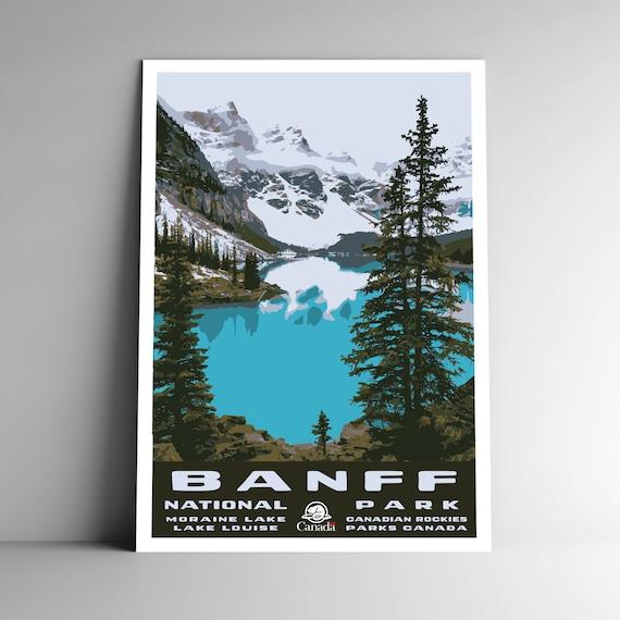 Yosemite National Park WPA-Style Vintage-Style Travel Poster 12x18 California
