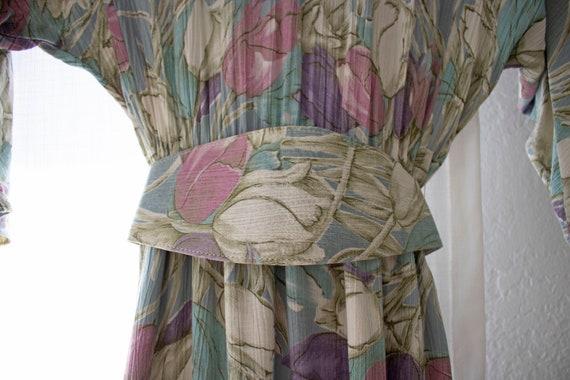 The Tulla Dress | Vintage Tulip Print Dress W/ Be… - image 4