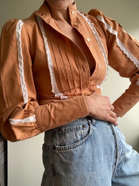 Rare 1970s vintage Laura Ashley Wales Rust Orange