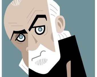 George Carlin Caricature Print