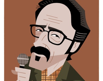 Marc Maron Caricature Print by Ashley Holt