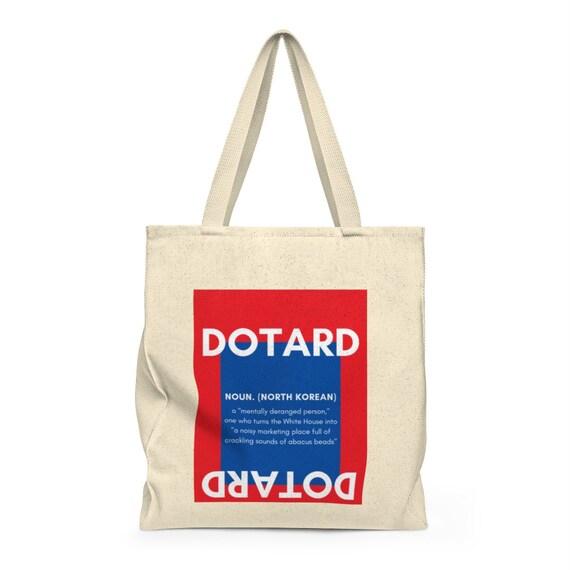 North Korea Shoulder Tote Bag Dotard Political Satire Etsy