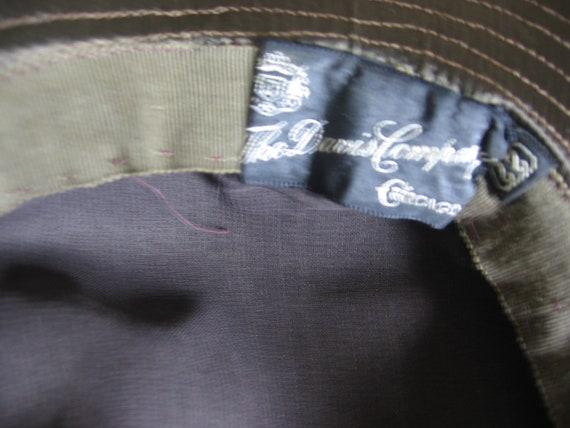 1930's Hat / Tilt / Wide-brimmed / Chocolate Taup… - image 10