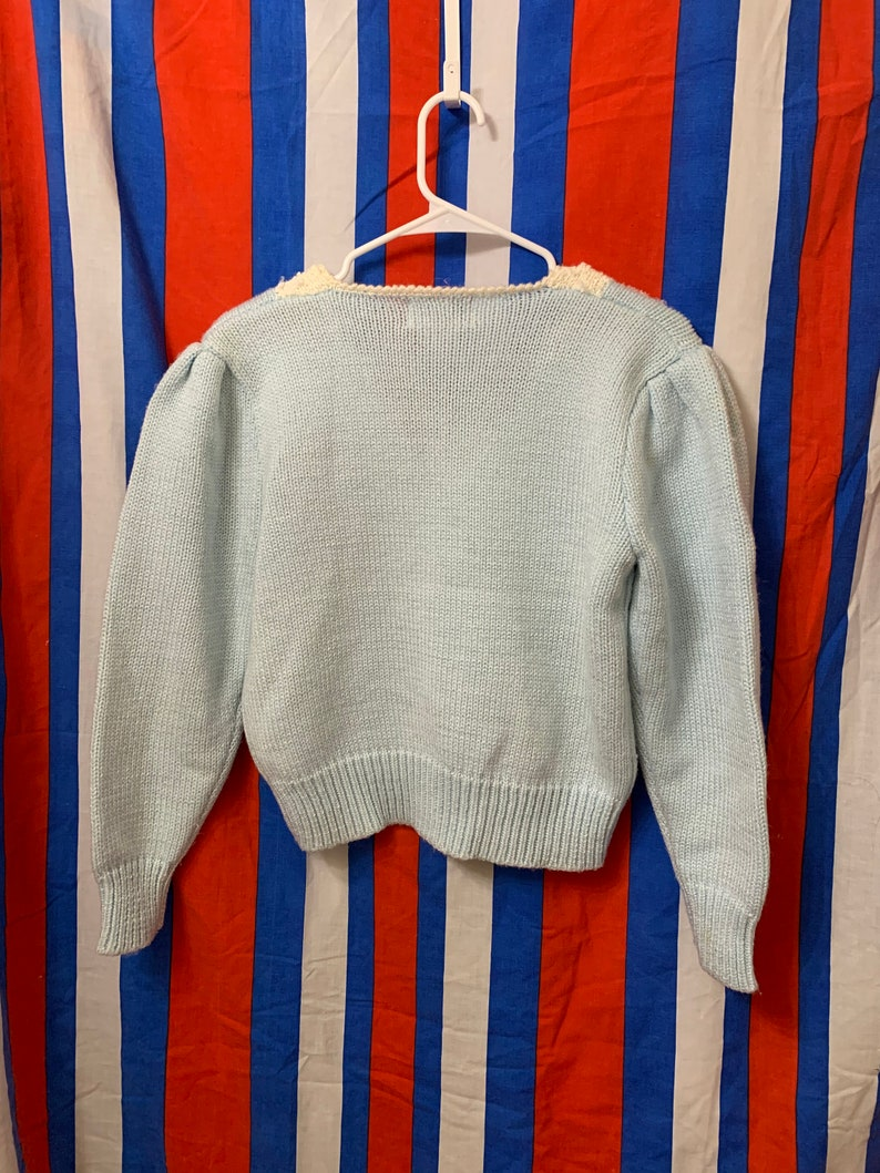 80s beaded knit sweater