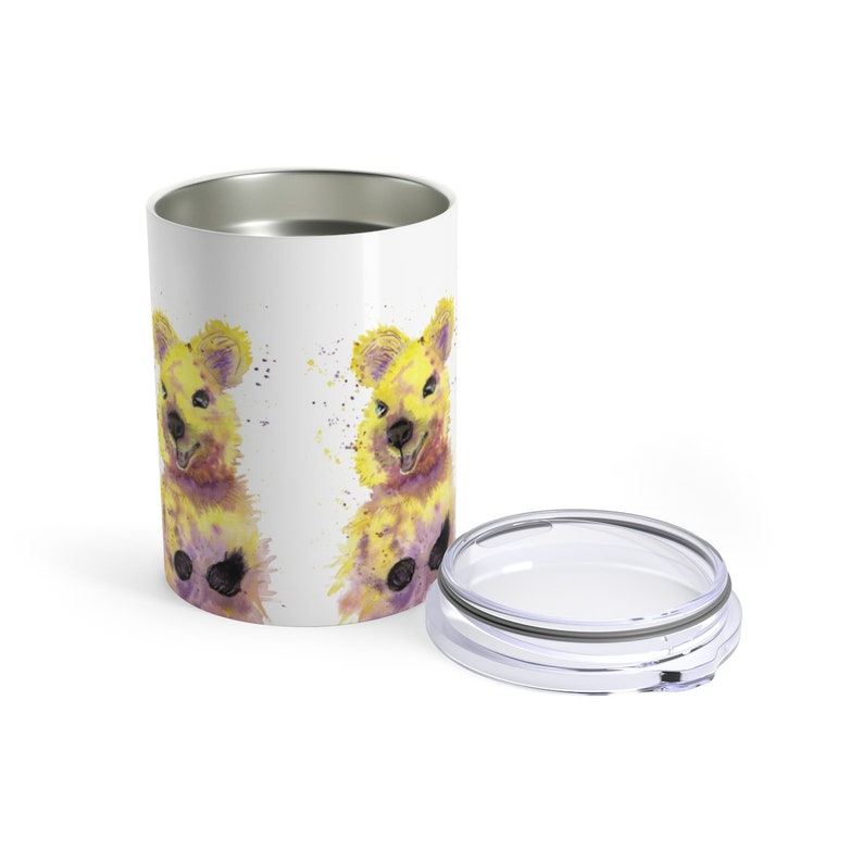 Keep Cup Stainless Steel Tumbler 10oz Watercolour Print Happy Little Quokka