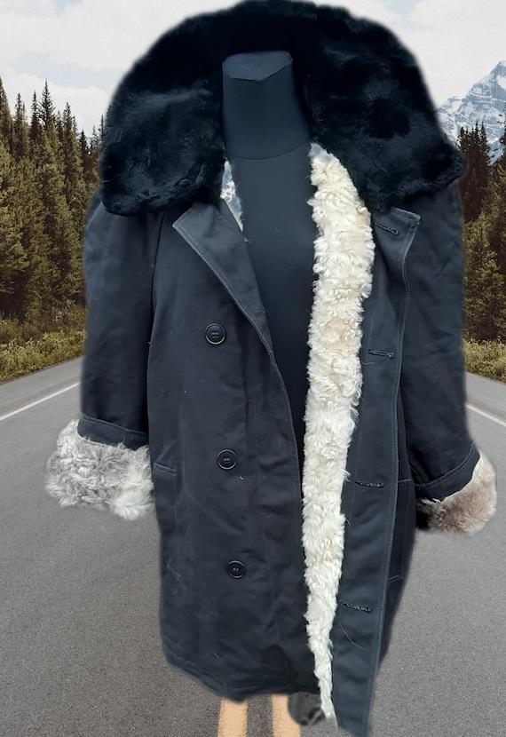 Soviet Military Winter Fur Jacket USSR