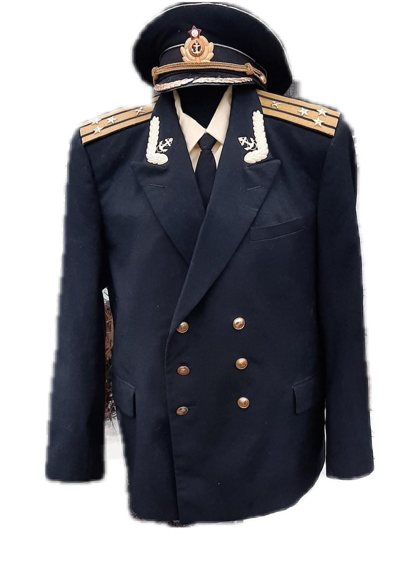 Vintage Soviet uniform captain 1st rank Navy USSR image 0