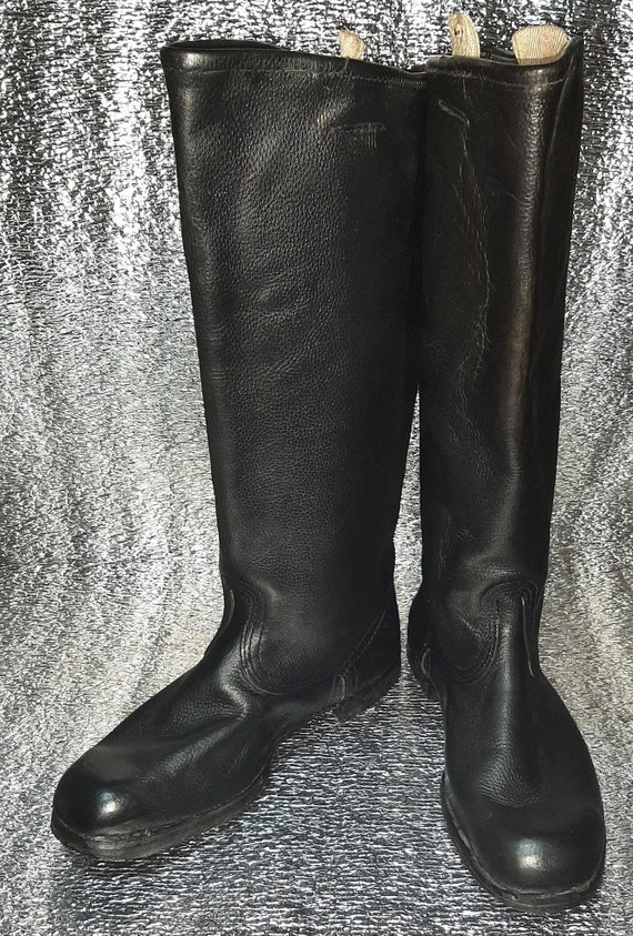 Military leather boots Soviet army USSR