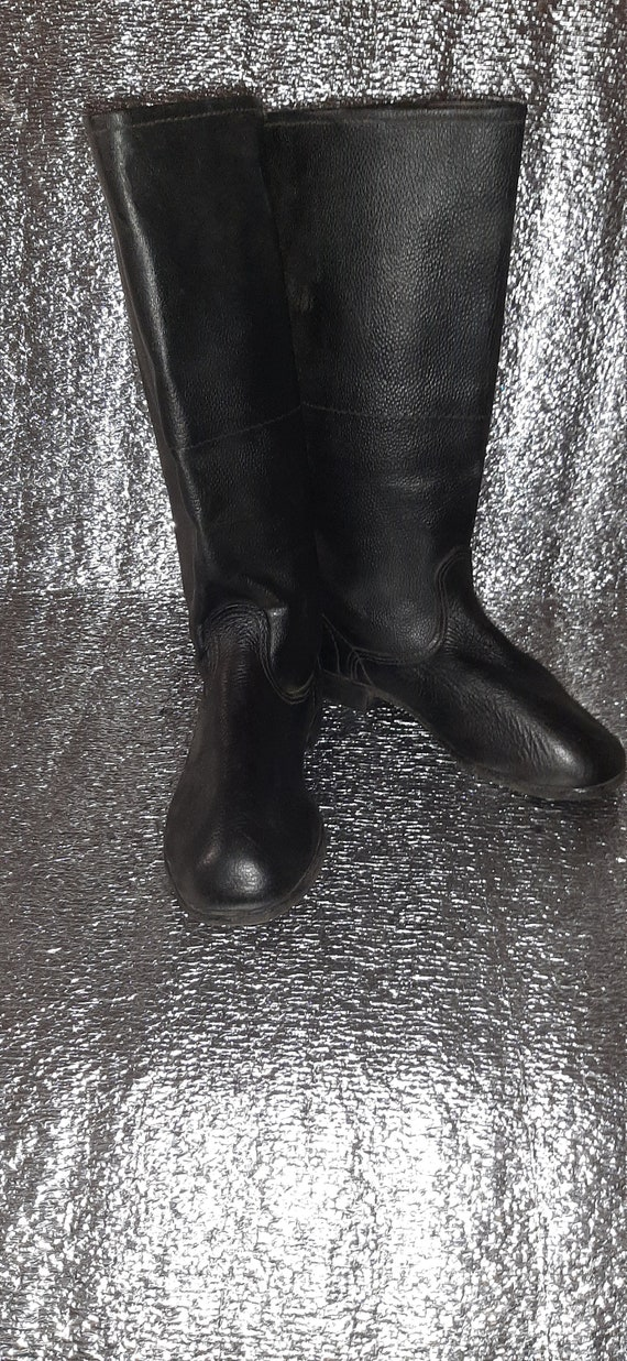 Military yuft boots Soviet army USSR