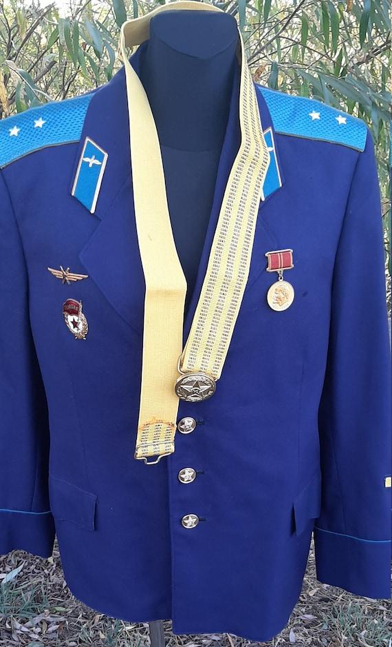 Soviet pilot's jacket + USSR belt