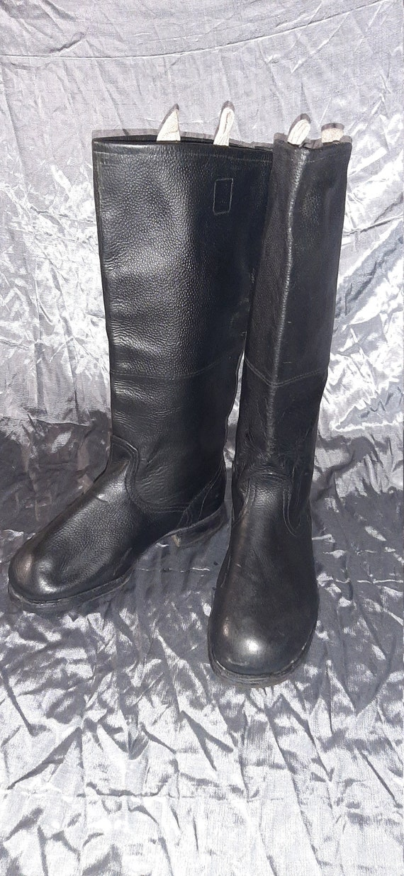 Military Officer's Boots Leather Yuft USSR