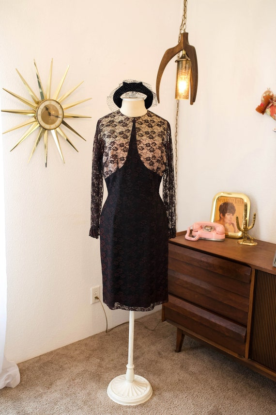 Vintage 1960s Lace Mod Dress