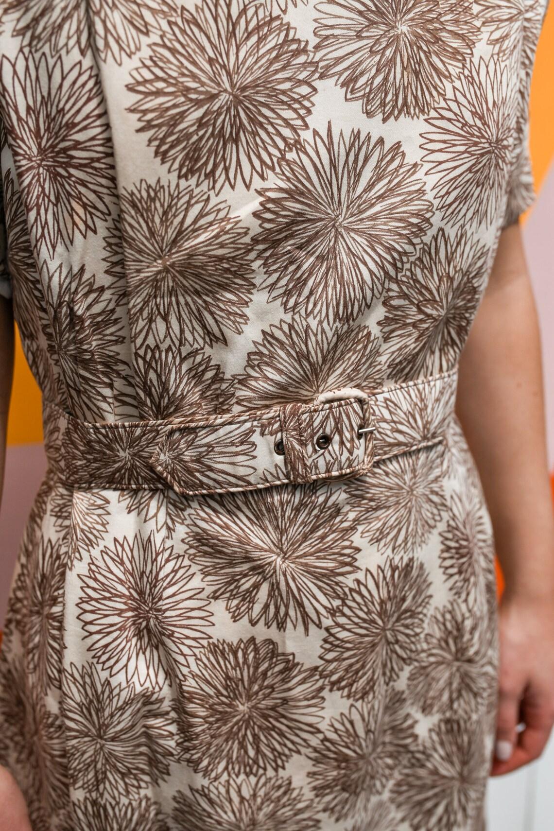 1950s Carol Nattal Wiggle Dress with Belt