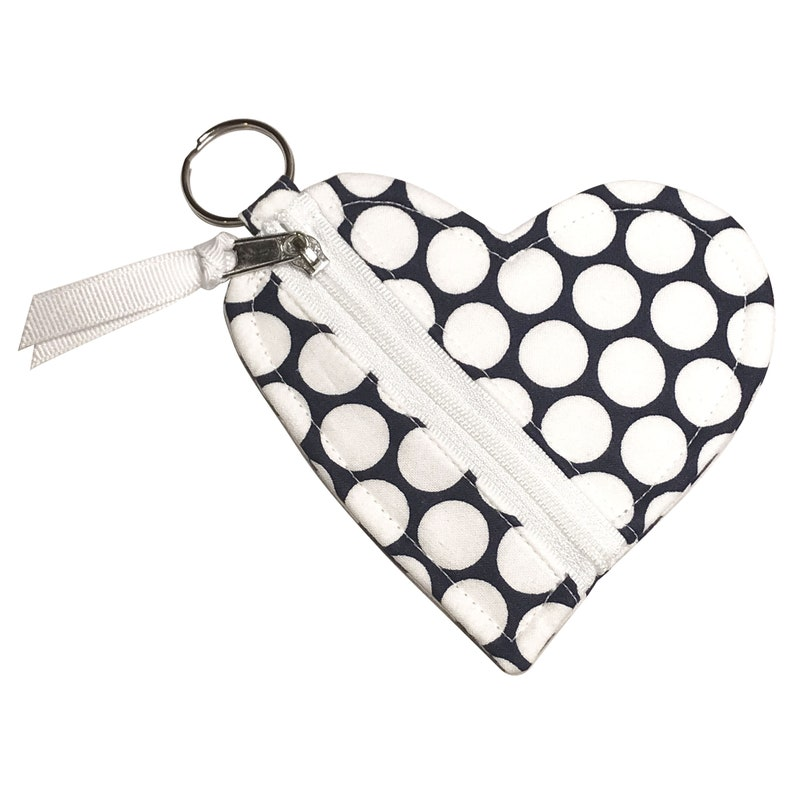 Earring Keeper  Coin Purse  Earbud Pouch Zipper Purse Organizer with Key Ring