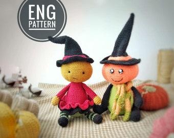 Amigurumi Pumpkin Head doll Crochet Pattern / PDF Amigurumi Halloween Doll Pattern / DIY easy english pattern toy for Halloween voodoo toy