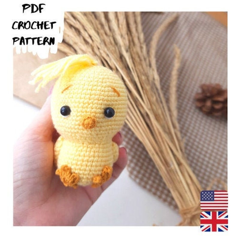 CROCHET PATTERN Easter Chick Amigurumi  Crochet chicken pattern 2 variation Easter decoration Tutorial Digital DIY Coco Little Chicken
