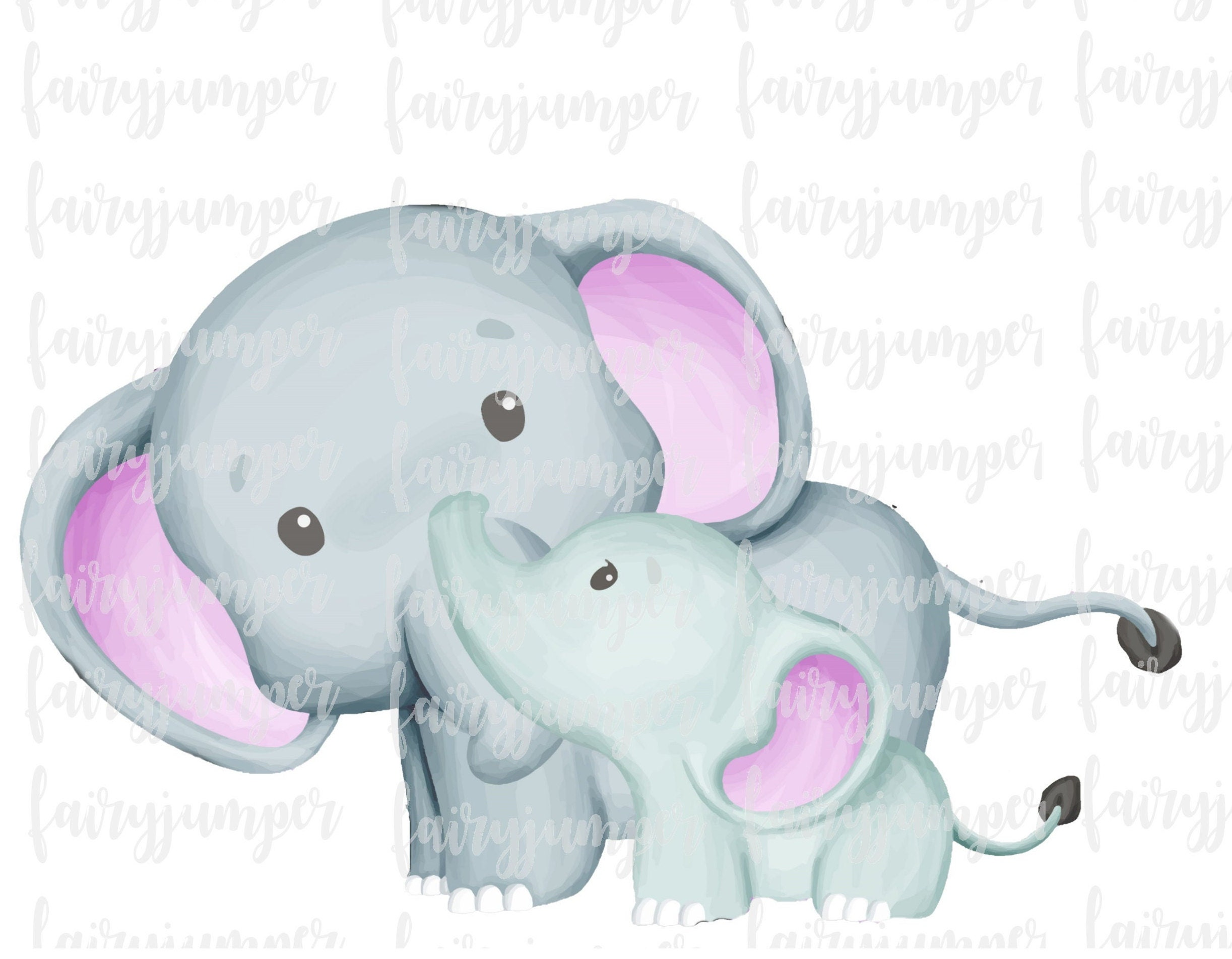 Elephant And Baby Print Png Jpeg Nursery Clipart Etsy Baby elephant png, vectors, psd, and clipart for free download., free portable network graphics (png) archive. etsy