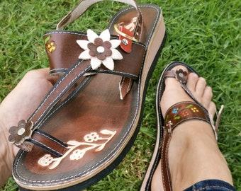 Boho hippie  Women Shoes- Leather Mexican Huarache -  Mexican Style - leather sandals for women - women shoes - Greek Sandals - Handmade