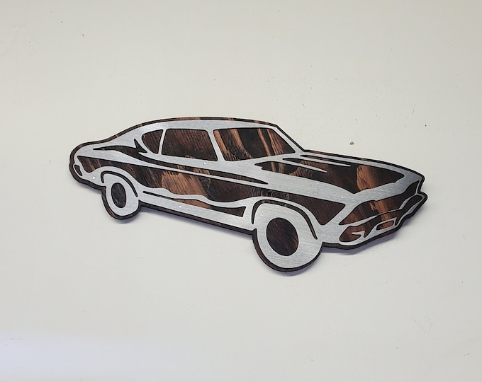 Chevy Chevelle    garage wall decor Chevelle tribute on wood Made in USA chevy bowtie wall sign Chevelle gift man gift mancave garage hotrod