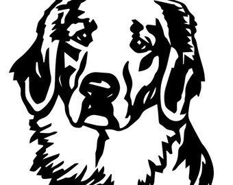 Golden Retriever Dog SVG DXF AI pdf cricket plasma sticker making cut file hunting dog
