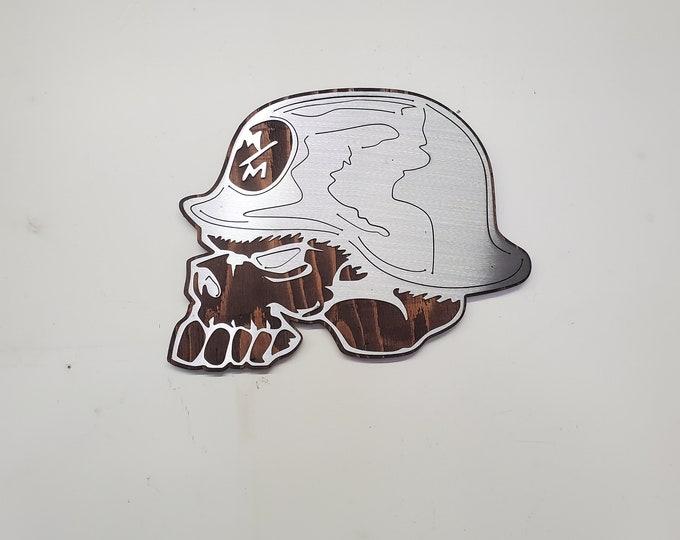 Metal Mulisha skull wall art metal militia skull wall  Sign metal art wall decor   Made in USA  rustic metal wall decor V1