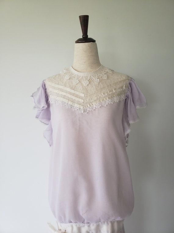 1970's Gunne Sax Victorian Style Drop-Waist Dress