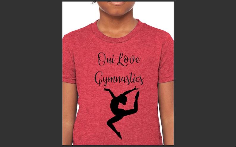 Gymnast Gift Girl Gymnast Tee Children/'s Gymnastic Tshirt Child Gym Athletic Top I Love Gymnastics Crew Love Gymnastics Girls T-Shirt