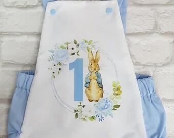 Baby Toddler Romper Suit Peter Rabbit Birthday Personalised