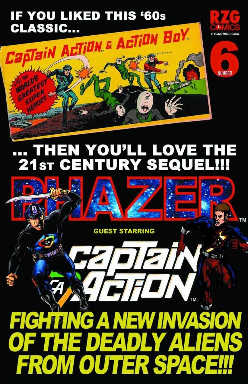 Phazer 6 Guest Starring Captain Action image 0