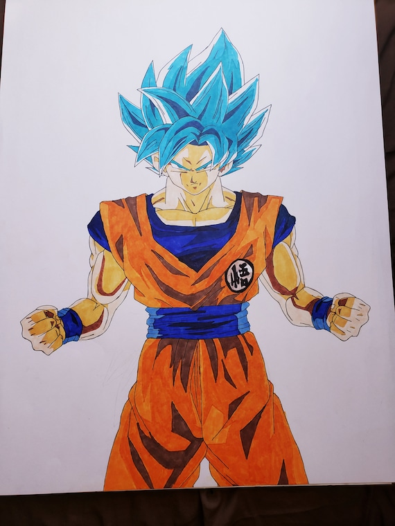 Super Saiyan Blue Goku Drawing