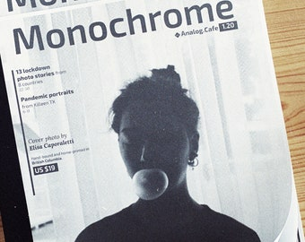 MONOCHROME, issue 1.20 — 50-page hand-made, perfect-bound, full-size charitable magazine