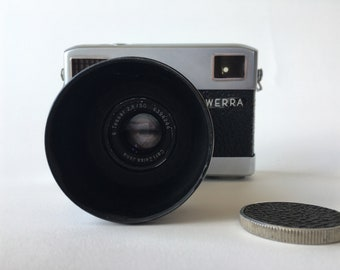WERRA WERRAMAT — vintage 35mm film camera by Carl Zeiss Jena, made in Germany (film tested, working)