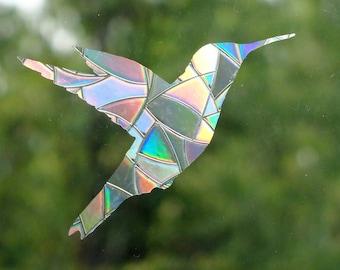 12 PCS Hummingbird Window Clings Window Decals to Prevent Birds Stickers New