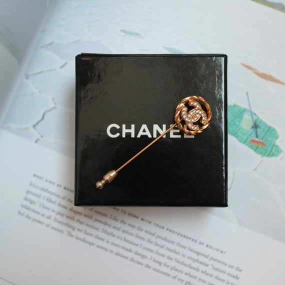 Vintage Authentic Chanel Logo Pin Brooch