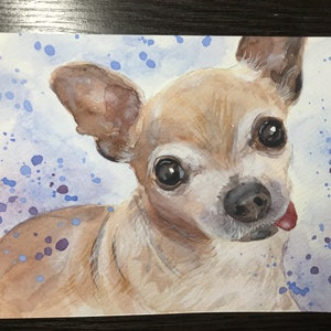 Hand painted Custom Dog portrait Original watercolor Single pet portrait Custom dog painting from photo Christmas gift ideas Custom dog art
