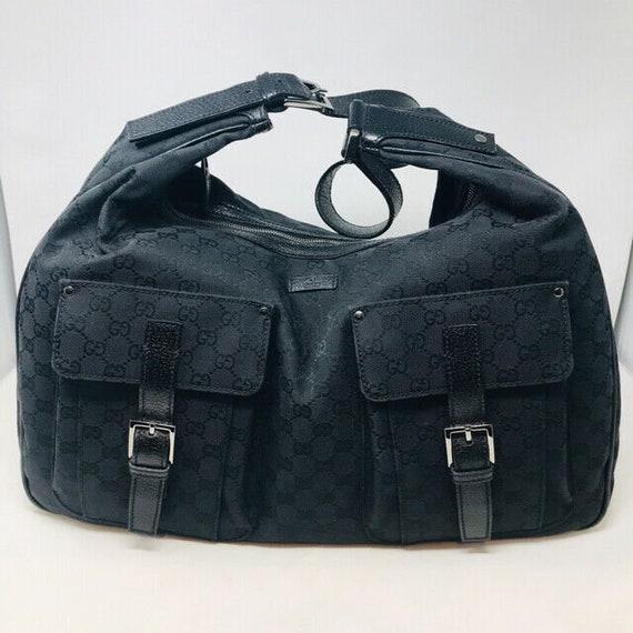 Gucci Black Canvas Logo Tom Ford Era Travel Bag Ho