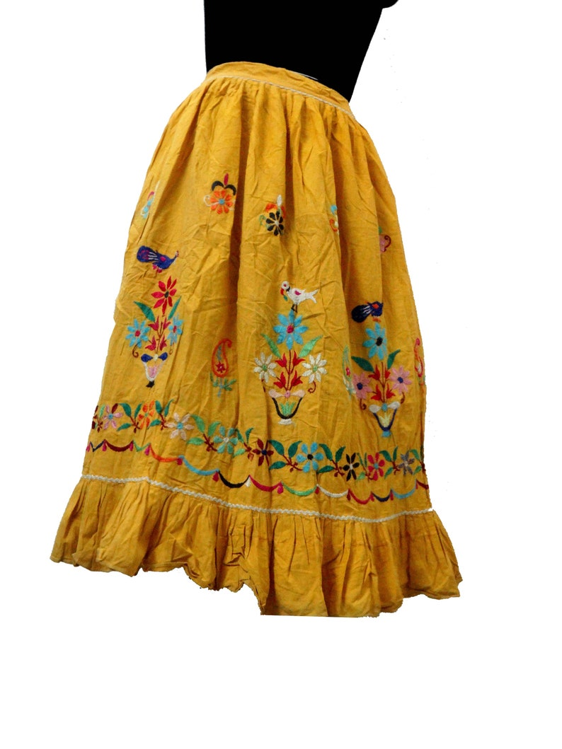 Hippie Handmade Ghagra Gujarati Embroidered Skirt Banjara Style Women Skirt Indian Cotton Bards Hand Embroidered Navratri Wear Skirt