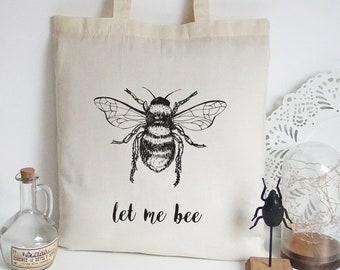 market bag eco friendly shopper Handmade tote bag Blue Cicadas insect